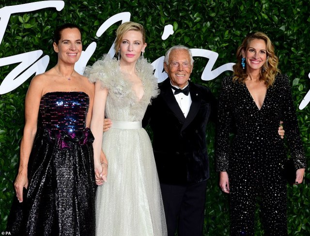 Glamour: The Hollywood starlets looked incredible along one another
