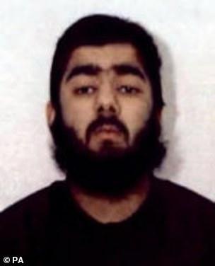 An Islamist jailed alongside London Bridge killer Usman Khan (pictured) was dramatically held for allegedly plotting a fresh atrocity