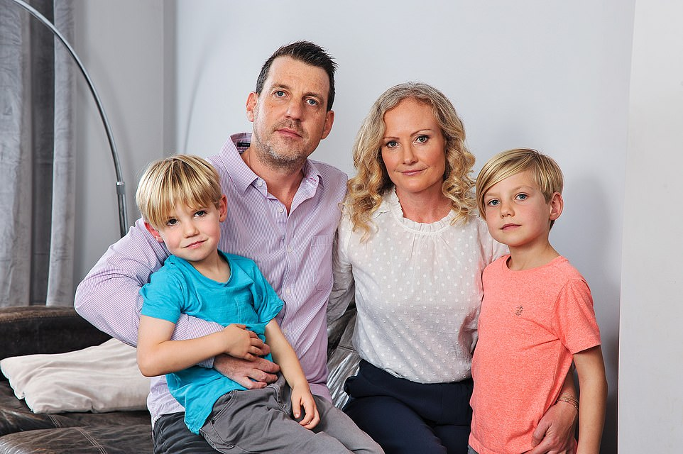 In November 2012, Jacquie Hale and Ed Goldswain (pictured with their two sons) had planned to use their savings to extend their £345,000 ground-floor flat into the basement of their property in Finchley, north London