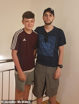 Jay and Jonny on holiday together