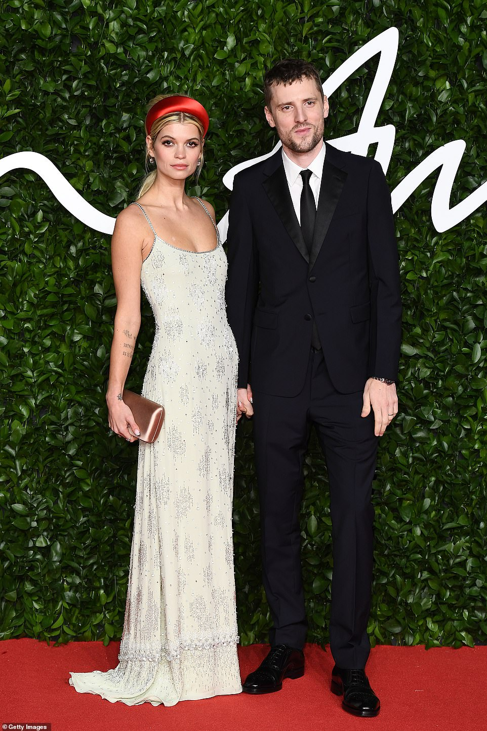 Stylish duo: Pixie Geldof and George Barnett arrived hand-in-hand for the style soiree