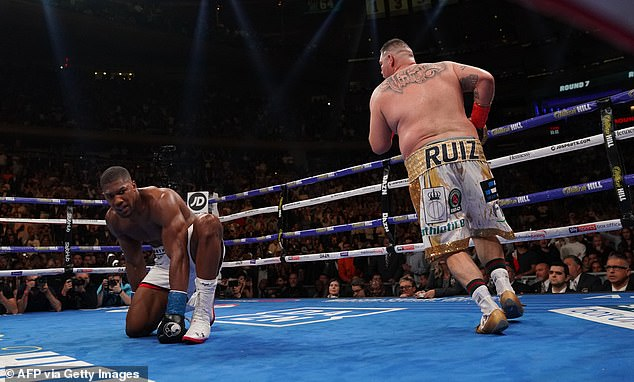 Joshua is looking to avoid another humiliating defeat to Ruiz Jr having lost to him back in June
