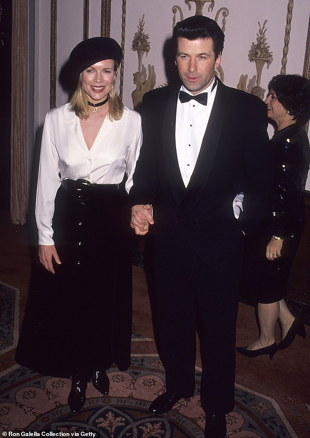 Throwback: Kim Bassigner and Alec Baldwin (L-R)at the Waldorf-Astoria Hotel in New York City in 1993