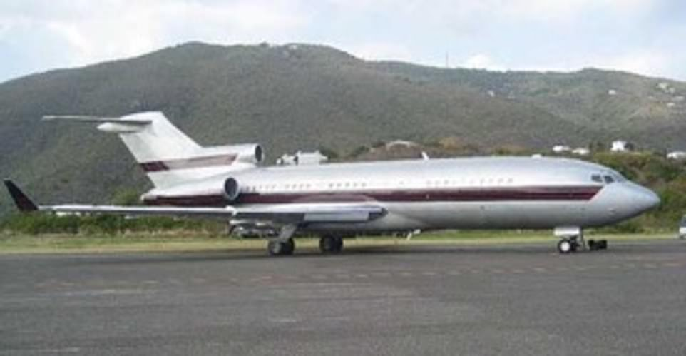 Clinton has flown on the now deceased financier's private plane, dubbed the Lolita Express (pictured), several times