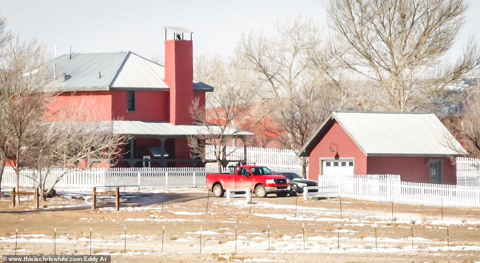 The guest homes are next to other traditional Wild West-style buildings such as an old schoolhouse and saloon bar, which are all near to Epstein's private airstrip, where he arrived on his private planes