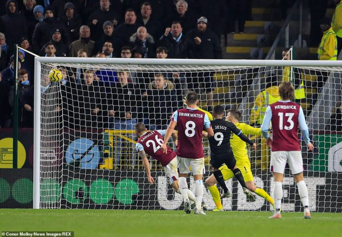 He did not have to wait long for Jesus to get onto the end of a cross and smash the ball into the top corner of Pope's net