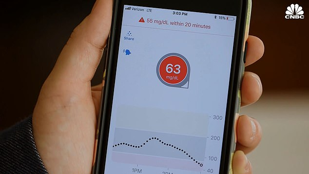 People with type 1 diabetes use the $350 device over others due to its remote monitoring option and reliable, steady tracking (file image)