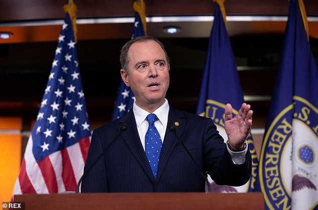 In the Democrats' impeachment report, Intelligence Chairman Adam Schiff wrote that Trump 'solicited the interference of a foreign government, Ukraine, to benefit his reelection,' and 'sought to undermine the integrity of the U.S. presidential election process, and endangered U.S. national security'