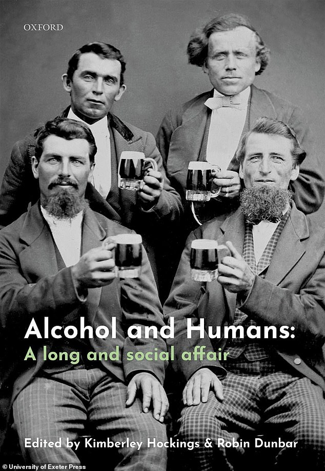 Titled 'Humans and alcohol: a long and social affair', the book (pictured) reveals the origins of our obsession with ethanol, and details its integral role in modern society