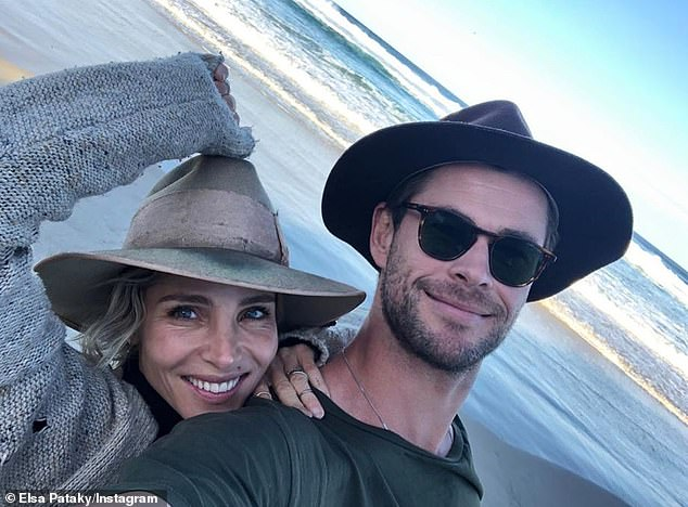 'You have to put a lot of effort in': While they appear to live an idyllic life in Byron Bay, Elsa Pataky (left) has revealed her marriage to Chris Hemsworth is far from perfect
