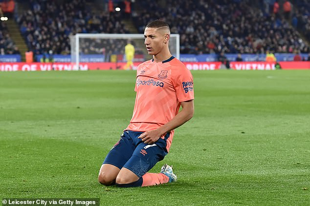 Brazilian forward Richarlison has been one of Everton's few bright points this season