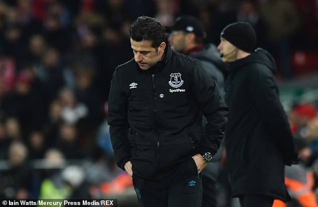 Silva's Everton side were once again unable to fight back after conceding first at Liverpool