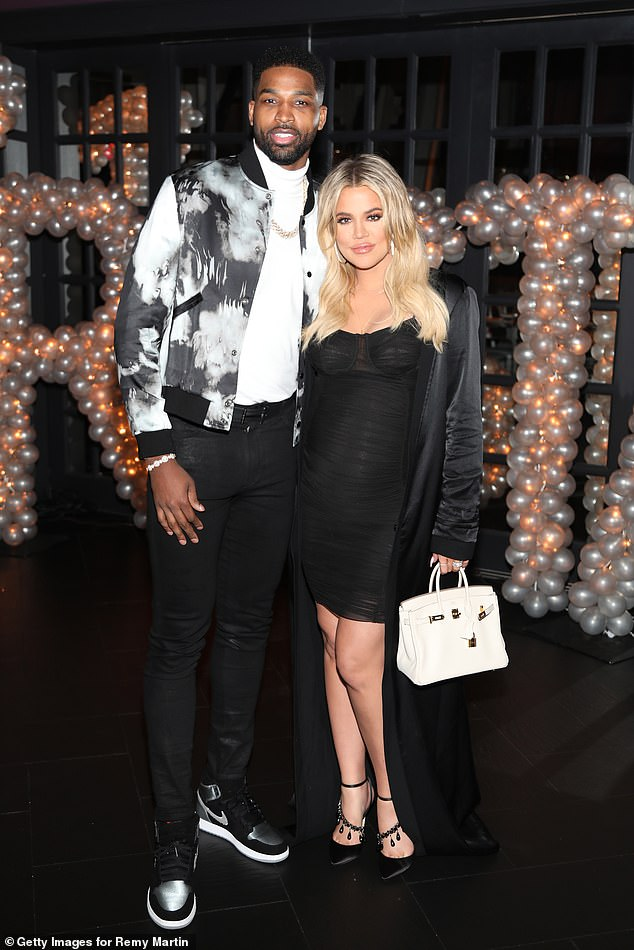 Taking his shot: Tristan, 28, looks to mend fences with Khloe after nearly a year apart. Here he is with Khloe in March 2018
