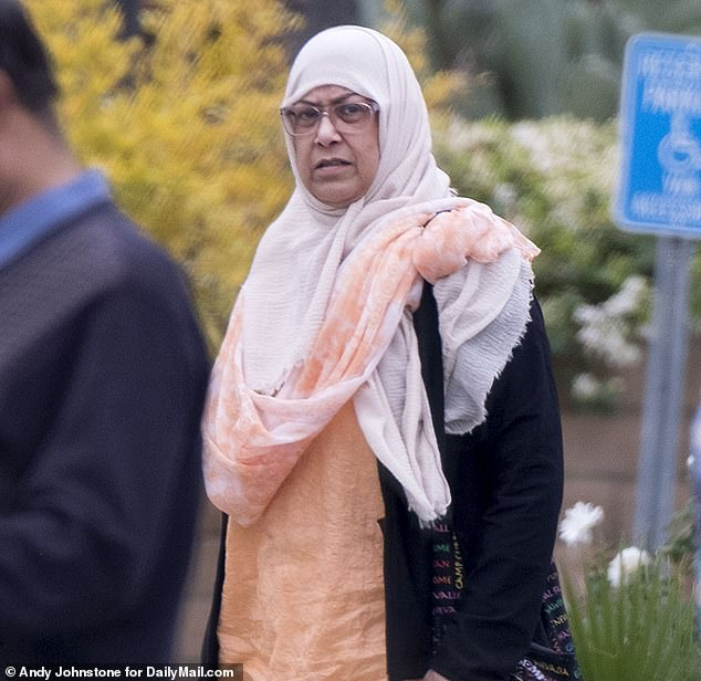 DailyMailTV spotted Rafia Farook, 66, the mother of San Bernardino terrorist Syed Farook, just days after the fourth anniversary of the massacre by her son