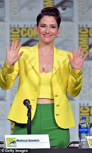In 2011, after reaching a 'breaking point', Leigh was hospitalized for several days. Pictured: Leigh at Comic-Con International, July 2019