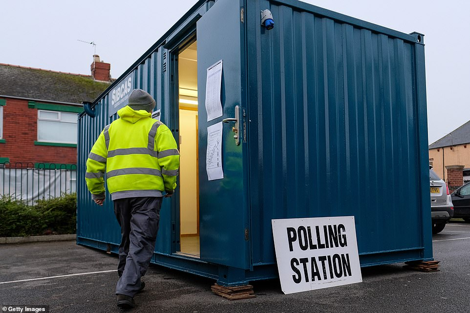 Voters in Hartlepool used this rather unusual polling station - a shipping container
