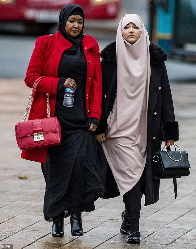 Amaani Noor (right), 21, of Wavertree, arrives at Liverpool Crown Court on Tuesday