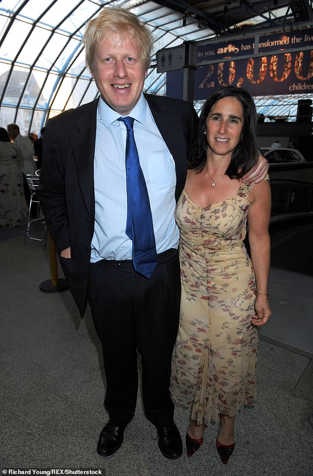 Boris Johnson and then-wife Marina at the The Ark Charity Gala in 2009