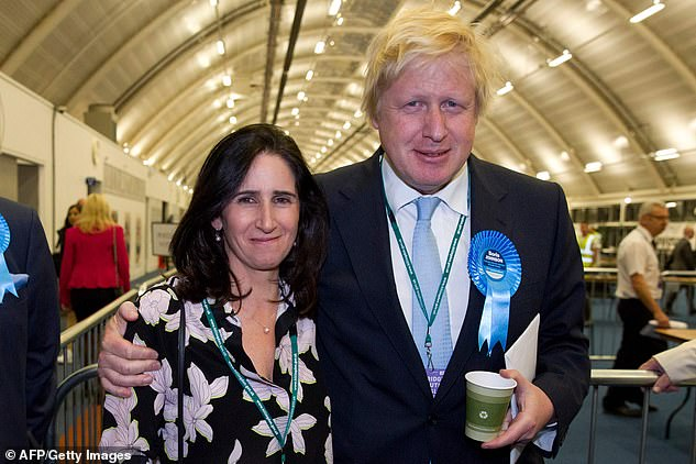 Mr Johnson now lives at Number 10 with Carriesince leaving his second wife Marina Wheeler (pictured together in 2015) last year