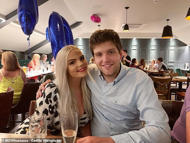 'My amazing boyfriend (pictured together) pushed me to go through with the photoshoot, giving me the confidence to do it,' she said