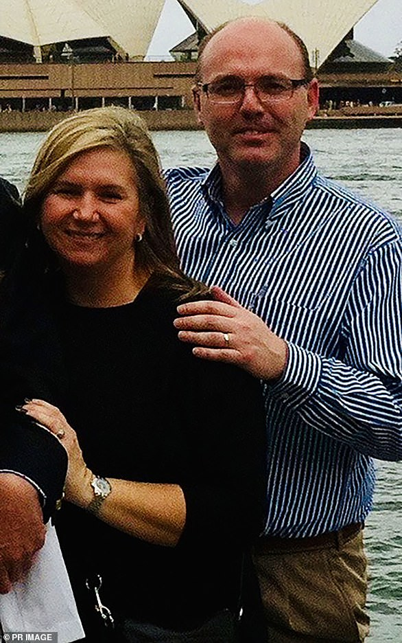 Martin Berend Hollander, 48, from Sydney, was formally identified on Monday. His wife Barbara (left) is yet to be formally identified