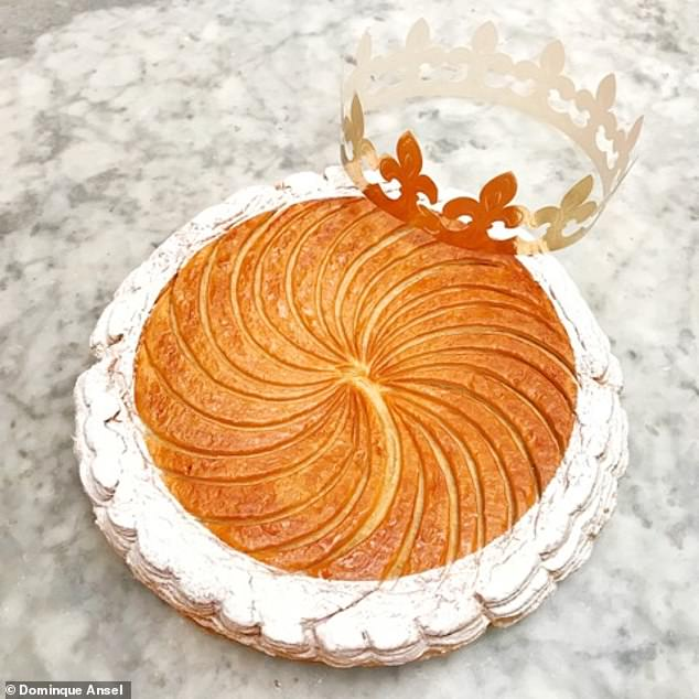 Pictured is one of Dominque's creations, the Chef's Galette de Rois (or King's Cake) - the French traditional pie/galette used to celebrate the Epiphany