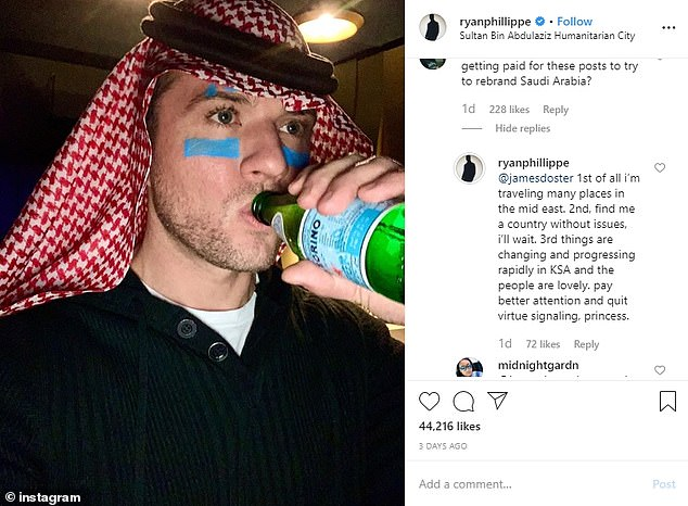 He is among the bevy of stars have been slammed since they started inundating social media with photos of themselves attending the MDL Beast music festival in Riyadh over the weekend