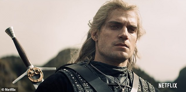Success:The Witcher has had an astonishing rise to the top and has become one of Netflix's highest rating original series on IMDB, just days after its December 20 release