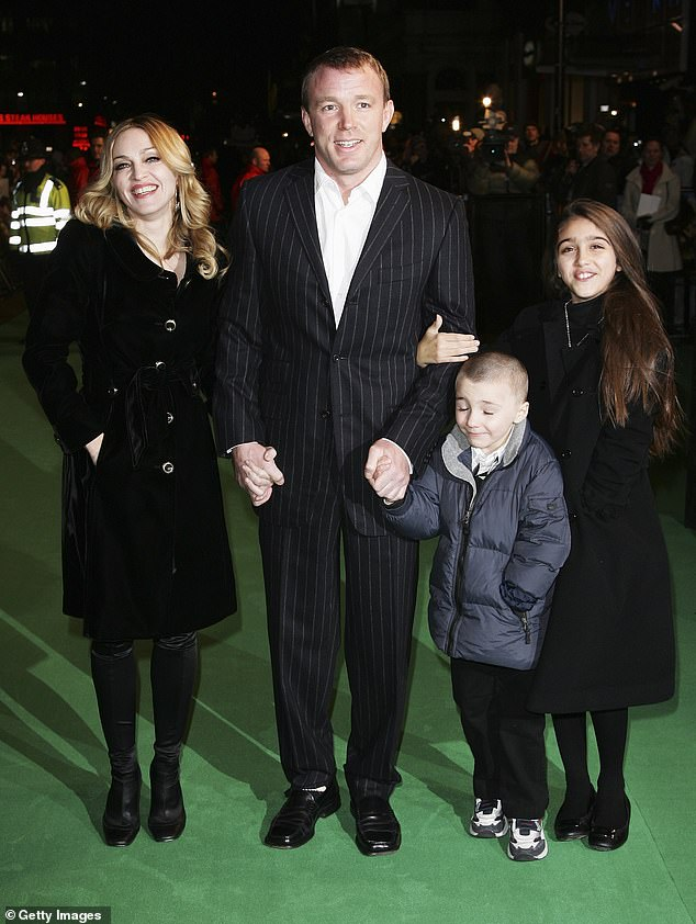 Result: After Madonna and Guy's custody battle, Rocco was allowed to live in the UK. The ex couple are pictured with Madonna's daughter Lourdes and Rocco in 2007