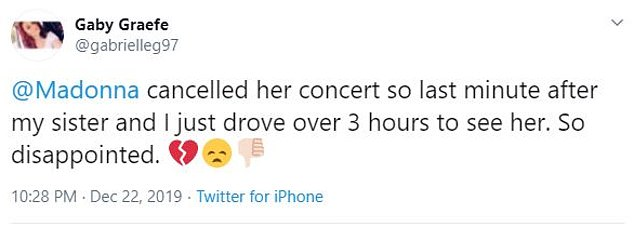 Gutted: Many were angry that Madonna canceled without a statement, while others explained they had driven hours to see her perform