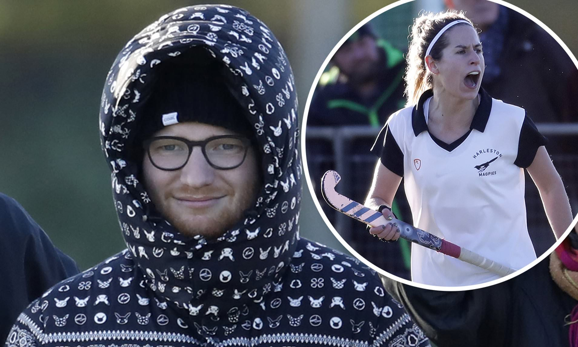 Ed Sheeran Supports Wife Cherry Seaborn During Hockey Training In Suffolk Daily Mail Online