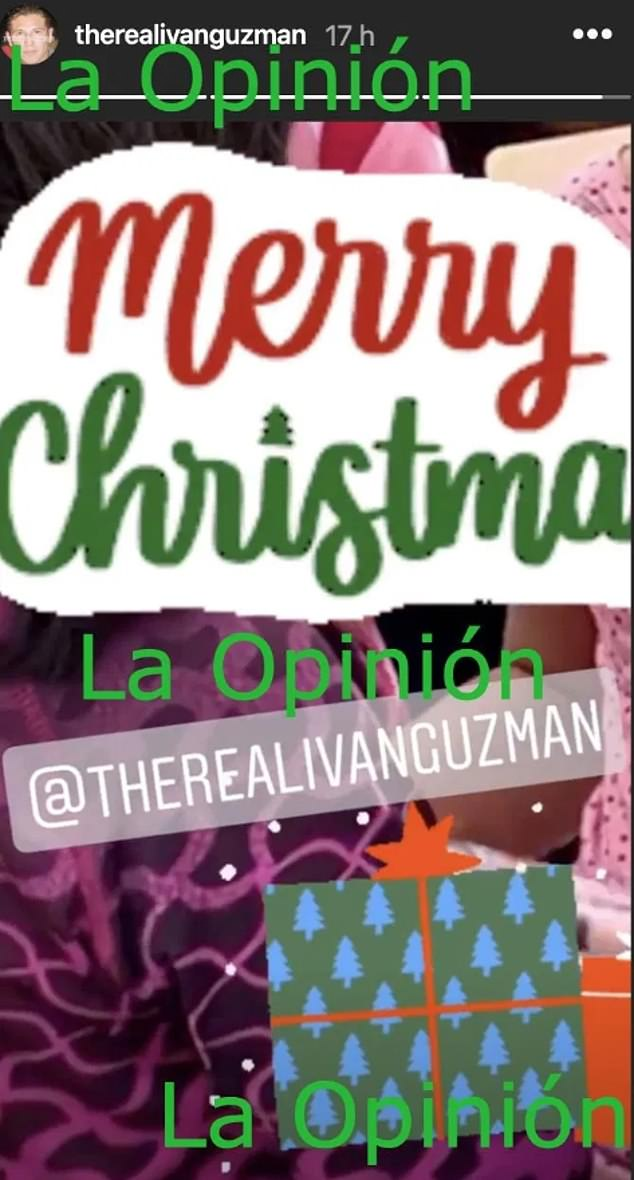 Screen grab of an Instagram Story video uploaded by Ivan Archivaldo Guzmán showed several children thanking him for their early Christmas gifts