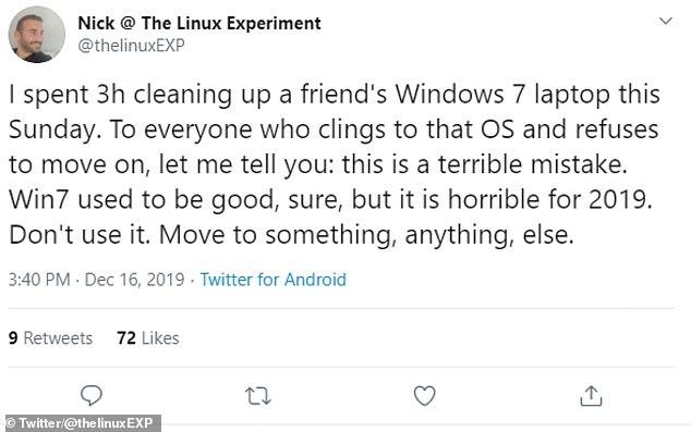 Windows 7 split opinion on Twitter