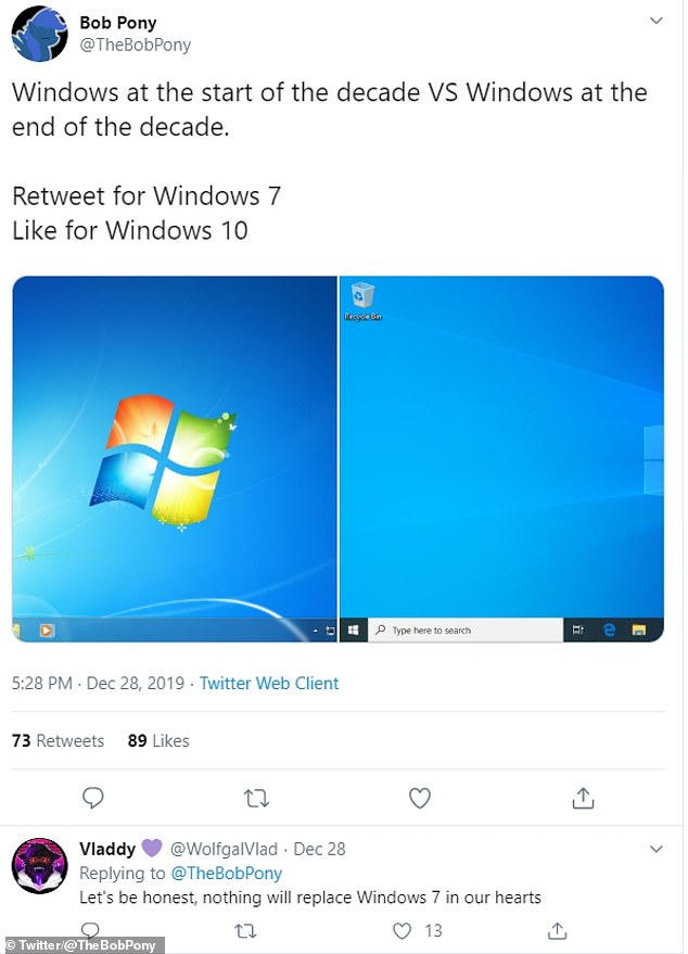 Windows 7 will be pretty much obsolete from January 15 2020