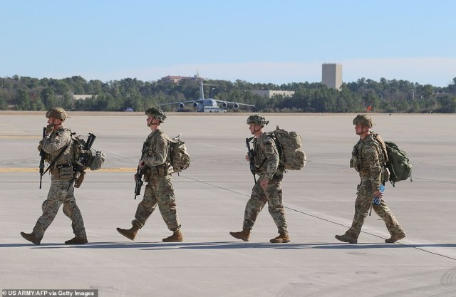 The soldiers were activated and deployed to the Middle East in response to recent events in Iraq