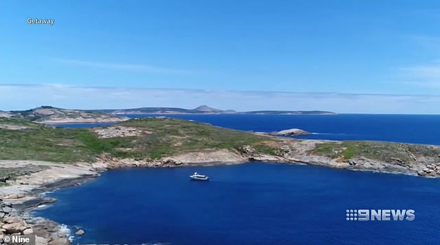 The attack happened at about 1.30pm off Cull Island in Esperance, south east of Perth, on Sunday
