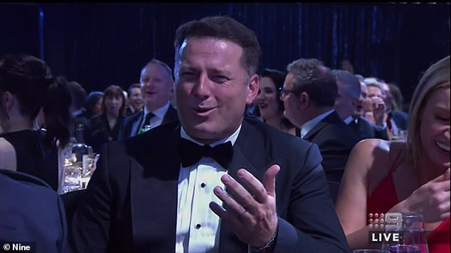 Candid: 'It wasn't any different to any other year - we all get smashed at the Logies and go to work the next day; we'd done it for years and years!' he said. Pictured at the Logies