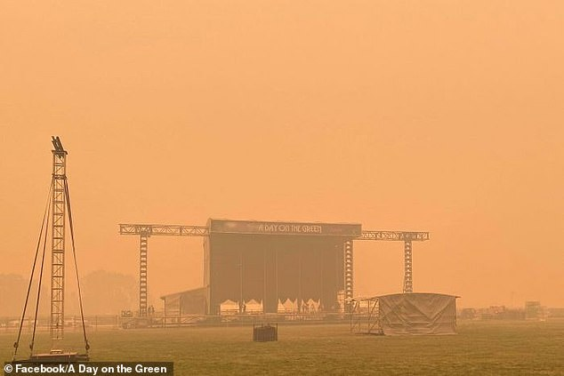 A Day On The Green festival has been cancelled due to bushfire smoke. Pictured: The venue