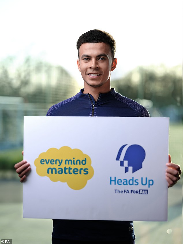 Prince Williamnarrated a 60-second film about mental health featuring stars of the game such as Chelsea manager Frank Lampard, England players Harry Maguire, Dele Alli (pictured), Jordan Pickford and Callum Hudson-Odoi and former England women's international player Alex Scott, which was broadcast before the ties