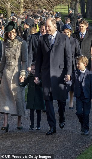The Essex-born commentator added that the Duke and Duchess of Cambridge (pictured on Christmas Day )are set to become a 'major force' in the UK's soft-power diplomacy