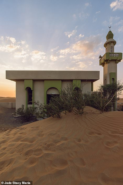The green mosque, which Jade says overlooks the entire village