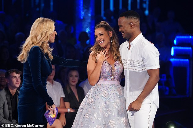 Sweet: Last year, Catherine appeared on Strictly Come Dancing with professional partner Johannes Radebe. Pictured with Strictly host Tess Daly