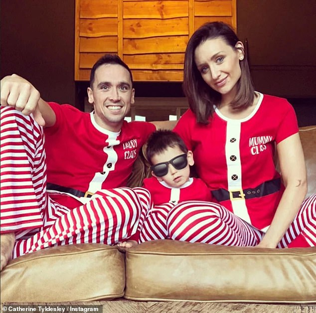 Gushing: Catherine and her husband already share five-year-old son Alife, who she praised for being 'very grown up' and handling her being away from home for work 'very well'