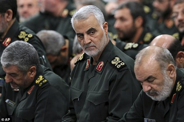 Esper also said the intelligence that led to the president ordering a drone strike that killed Soleimani (pictured) was 'more than razor thin and persuasive'