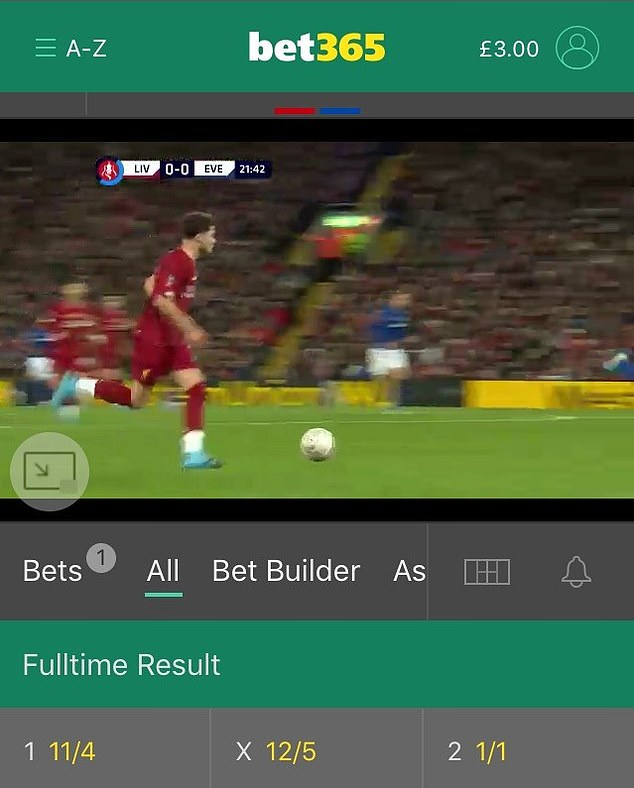 Betting odds accompanied the live footage, tempting viewers to place a stake