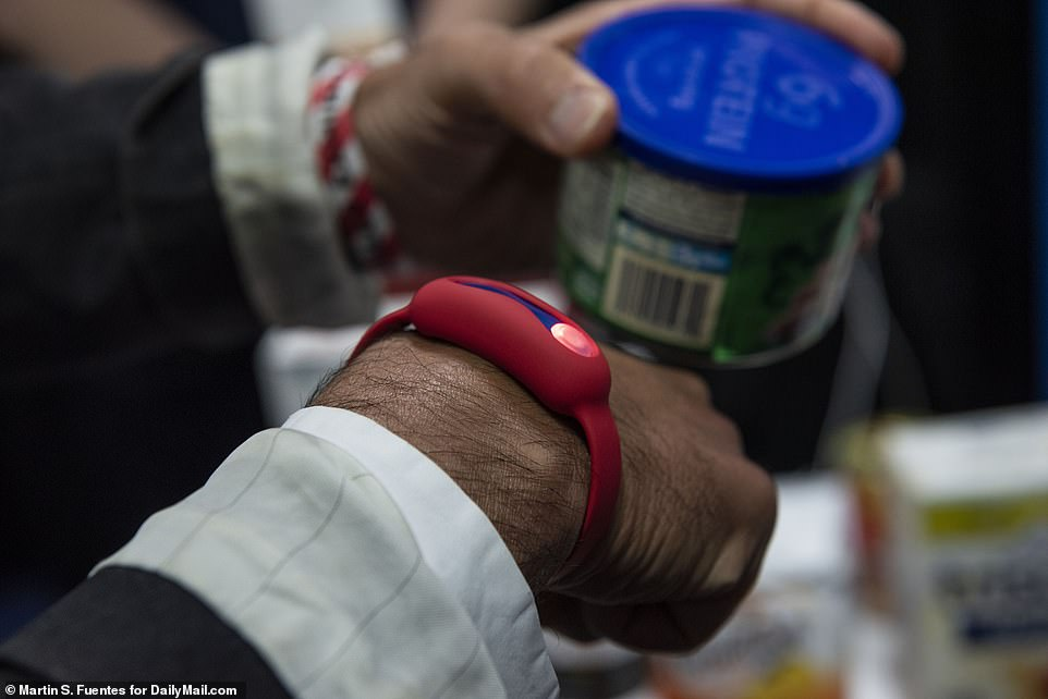 A London startup has developed a wristband that aims to help the wearer make healthier diet choices at the grocery store - using their own DNA. Called DnaNudge, this technology collects your DNA through a cheek swab and sends data related to nutrition to a wristband