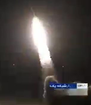 The rockets hit Ain Asad (pictured) which houses US and coalition troops