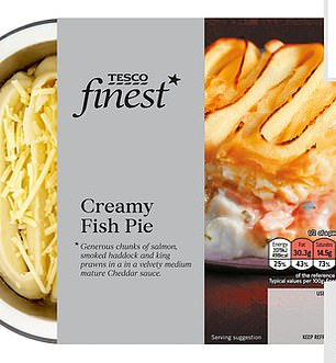 Tesco dominated the top 10 saltiest dishes, with their Finest Fish Pie taking second place