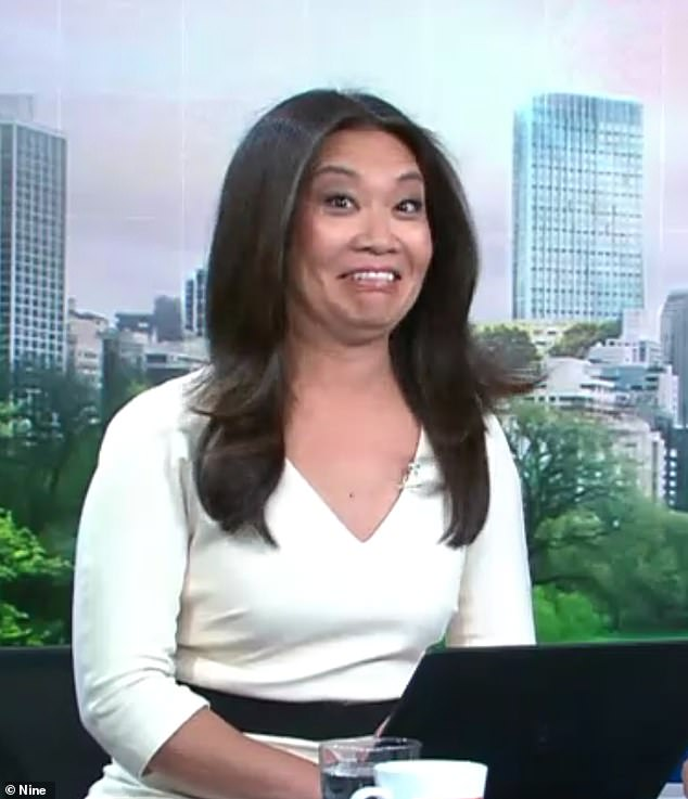 Speechless: Newsreader Tracey Vo (pictured) looked physically shocked by Karl's outburst