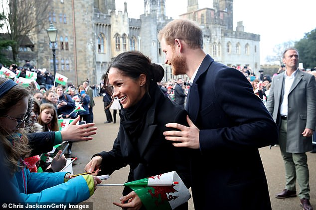 Shock: The Duke and Duchess of Sussex made their announcement in a statement on their official Instagram account on Wednesday evening. Pictured on January 18, 2018